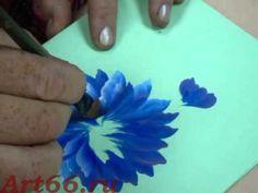 Нижнетагильская роспись. Рисуем цветы. Ольга Матукова - YouTube