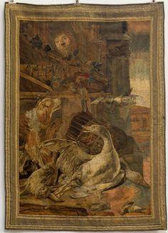 MANUFACTURE IMPERIALE DE SAINT PETERSBOURG. TAPISSERIE ( plus exactement panneau tissé). Sur laquelle figure une nature morte à décor d'oiseaux et de gibier.  Troisième quart du XVIIIème siècle.  180 X… - Havin Jean - 28/05/2017