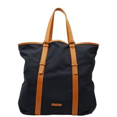 PAUL SMITH Leather Trim Cotton Tote