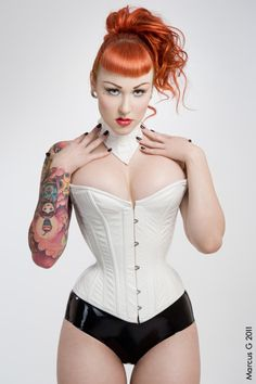 redheads hot corset big boobs
