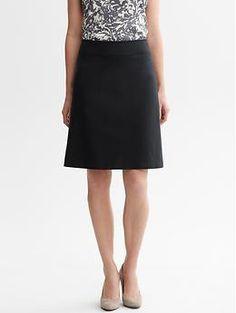 Sleek suit A-line skirt | Banana Republic $79.50