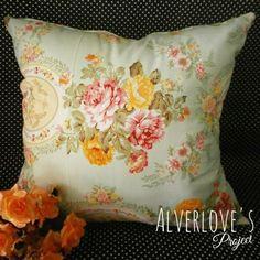 cushion cover shabby chic / sarung bantal katun jepang, bisa custom ukuran, line : veramustika