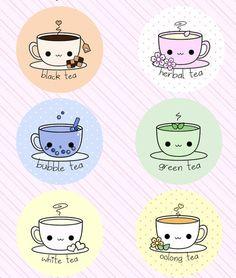 Kawaii Herbatki. Więcej kawaii rzeczy zobacz także na http://slodkierzeczy.pl