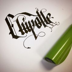 I love me some burritos. Calligraphy with the Pilot Parallel Pen.