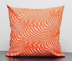Marimekko Pillow Covers (Orange). It reminds me of Salmon! :) But in a good way.
