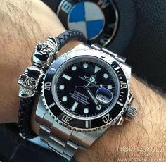 Rolex & North Skull Bracelet