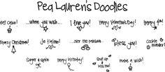 FREE Pea Lauren's Doodles #Font #DIY #Fonts
