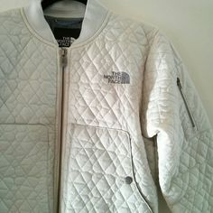 The North Face Quilted Jacket in white on Poshmark