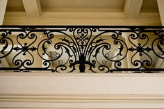 Amazing details Balcony Grill Design, Balcony Railing Design, Stair Railing, Wrought Iron Staircase, House Staircase, Iron Balcony, Iron Art, Classic Interior, Facade Design