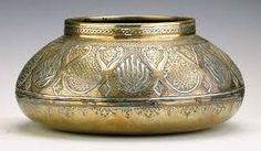 Image result for indian vase brass and enamel or lac