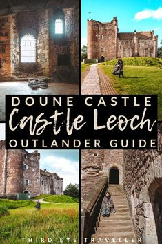 If you want to visit Castle Leoch of Clan MacKenzie in Outlander. Then head to Doune, Scotland! Here's the ultimate list of Doune Castle Outlander locations Outlander Tour, Outlander Series, Scotland Road Trip, Scotland Travel, Outlander Locations, Diana Gabaldon Bücher, Glasgow, Scotland Castles, England And Scotland