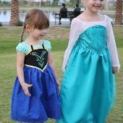 Disney Frozen inspired Anna & Elsa dress PDF patterns from Craftsy.com