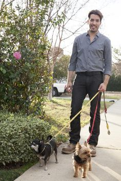 Just taking Stewie and Gracie out for a stroll...there's even more fun photos on @DIY Network .com!