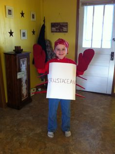 Vocabulary parade. We got the word crustacean so we went as a crab.