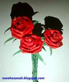 Contoh Kerajinan Tangan Bunga Dari Kertas Dan Cara Membuatnya Bunga Gambar Bunga Sketsa Bunga