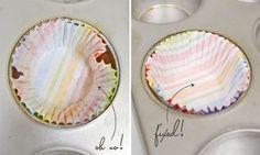BAKING TIP: Reshape Cupcake Liners