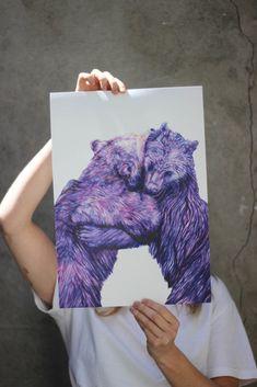 Irish – April & The Bear House Gifts, Big Bear, Urban Landscape, Natural World, Art Techniques, Traditional Art, Her Style, Hug, Bears