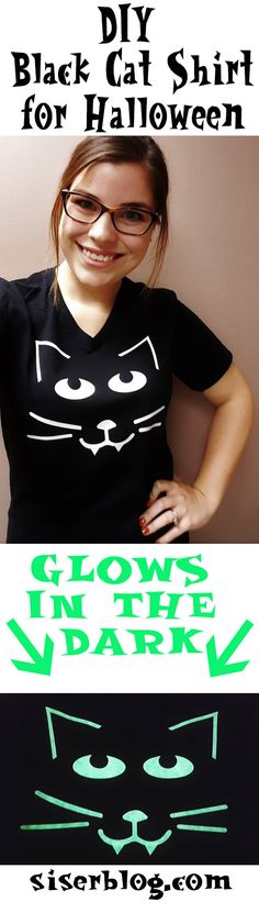 Create this cute black cat that glows in the dark with the FREE cut file included in this post! Siser EasyWeed™ Glow works with all craft cutters, like Cricut and Silhouette. Try it out this Halloween!