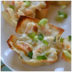 Triple Cheese Shrimp Dip Wontons