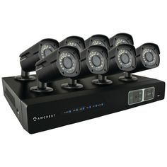 Amcrest 8-channel 720p Hd-cvi 2tb Dvr Security Camera System With 8 Bullet Cameras