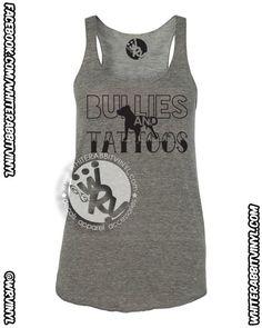 Bullies And Tattoos Tank Top pitbull bully tattoo dog lover