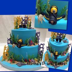Scuba diving cake - Cake by Mirtha's P-arty Cakes