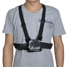 Chest Shoulder Strap 360 Degree Rotation Mount with J-Hock  Buckle for Gopro HD Hero1/2/3/3+ Sport Camera