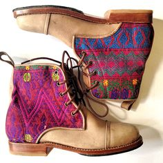 We love mondays after we get our daily boot fix! #teysha #handmade #boots #customboots #guatemala