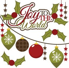 CHRISTMAS, JOY TO THE WORLD CLIP ART