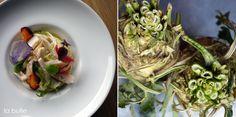 Entrée jour : Crémeux de céleri, émincé de volaille, légumes croquants