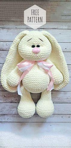 Mesmerizing Crochet an Amigurumi Rabbit Ideas. Lovely Crochet an Amigurumi Rabbit Ideas. Crochet Bunny Pattern, Crochet Animal Patterns, Stuffed Animal Patterns, Crochet Patterns Amigurumi, Crochet Dolls, Amigurumi Doll, Crochet Baby, Knitting Patterns, Knitting Toys