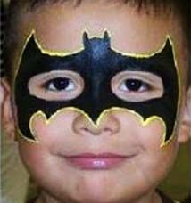 Batman Birthday Party Face Painting