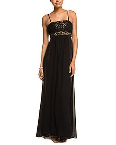 Sue Wong Black Nude Beaded Gown