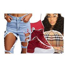 """""""niya"""" by baby-trilldolls ❤ liked on Polyvore featuring Burberry and NIKE"""