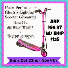Nish Homeschool Blog : Electric Scooter Giveaway Blog Opportunities!