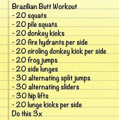Butt workout!