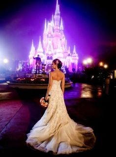 """If i had a million dollars... My wedding would be there, with the castle lit up... and Wishes would start as soon as he pronounced us man and wife. And by """"he"""" you know i am referring to the mouse."""