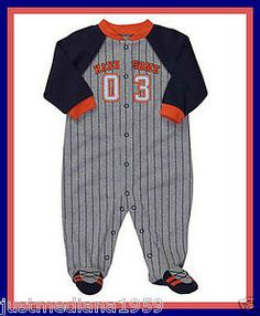NWT Carter's Lightweight Baby Boy Sporty Handsome Cotton Sleep & Play - SZ 6 mo - Sold April 14, 2013