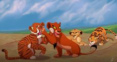 A friendly moment with Scar, Shere Khan, Zira, and Sabor.
