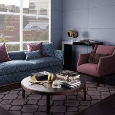 Warwick Fabrics: CALVIN Collection, different fabrics all complimentary to one another. Potential sofa, dining chairs, accent fabrics