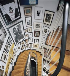The wall of the stairs can be a challenge to decorate. Some of the reasons are its odd shape and location.,we collect the most creative staircase wall decorating ideas