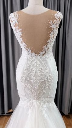 Backless Mermaid Wedding Dresses, Wedding Dress Backs, Custom Wedding Dress, Wedding Gowns, Backless Wedding, Bridal Outfits, Bridal Dresses, Lace Gown Styles, Princess Ball Gowns