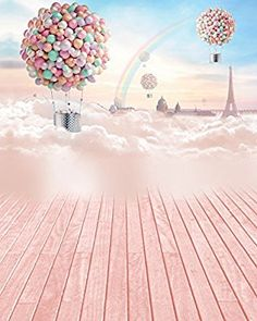 5X7 FT Photography Background fotografia balloon Colorful Clouds Children Photography Backdrops for Photo Studio