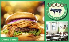 2 burgers and 2 sides at Bobos Restaurants In Dublin, Gourmet Burgers, Eating Well, First Time, Hamburger, Things To Do, Menu, Wellness, Dining