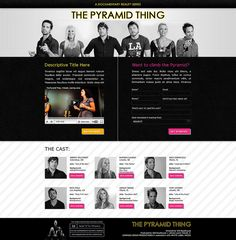 The Pyramid Thing landing page