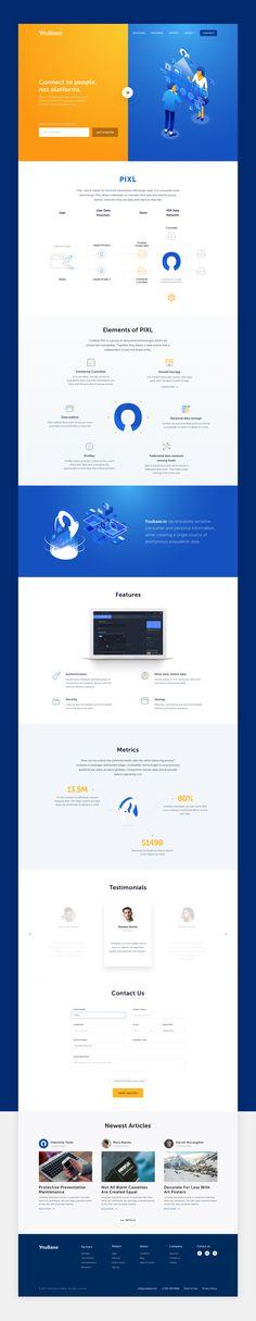 YouBase Landing Page on Behance