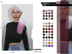 Sims 4 Hairs ~ The Sims Resource: Twinkle Hair by LeahLillith Sims 4 Cas, My Sims, Sims Cc, Sims 4 Game Mods, Sims Mods, Sims 4 Seasons, Sims 4 Black Hair, Pelo Sims, The Sims 4 Cabelos