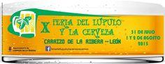 X Feria del Lúpulo y la Cerveza en Carrizo de la Ribera desde el 31 de julio al 2 de agosto