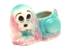 Vintage Hull Pottery Sad Eyed Puppy Planter