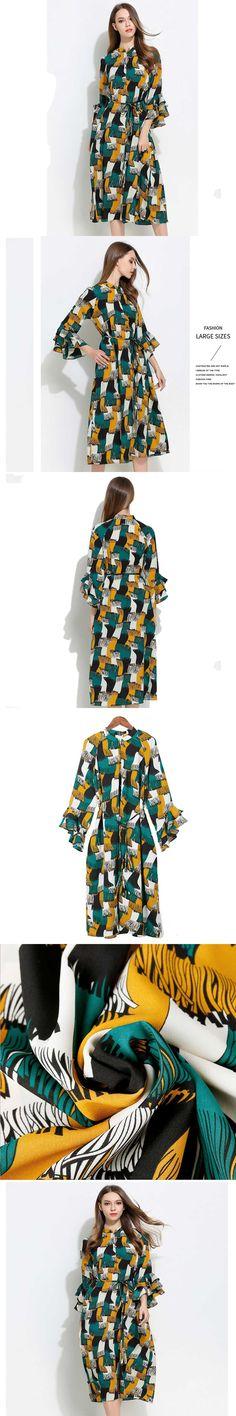 Luxury brand Bohemia Beach Dress Chiffon New Fashion Robe Dress Large Size 5XL Summer Dress Plus Size Casual Loose Polyester